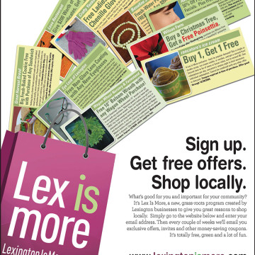 Lex Is More Ad Campaign Lexington MA