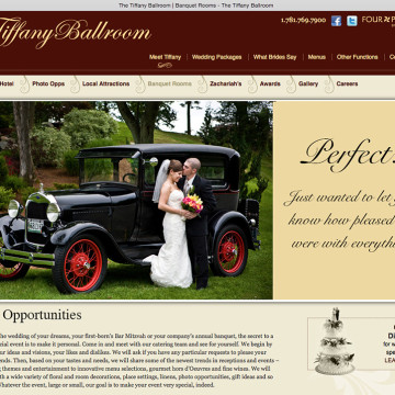 Tiffany Ballroom Logo Brochure Website